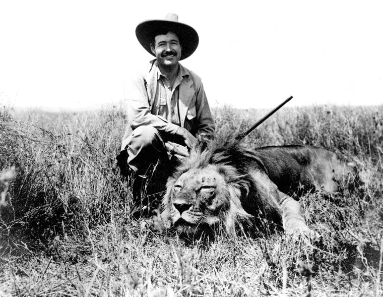 Really? (During a safari in Africa in 1934. Ernest Hemingway Photograph Collection, John F. Kennedy Presidential Library and Museum)
