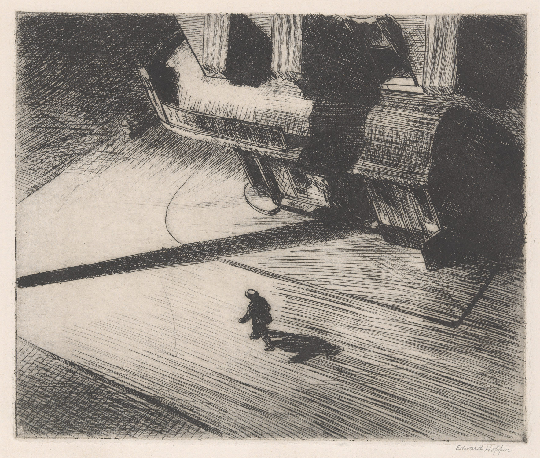 night shadow edward hopper