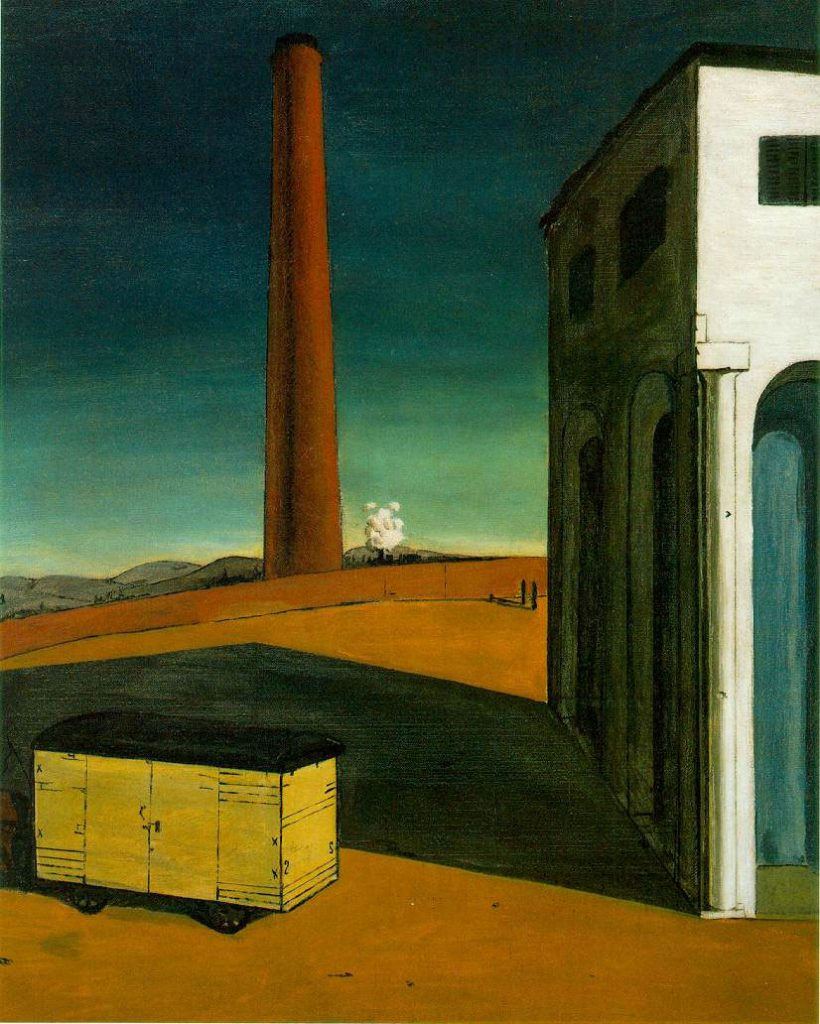 The Anguish of Departure: Giorgio de Chirico, 1914 (Albright-Knox Art Gallery, Buffalo)
