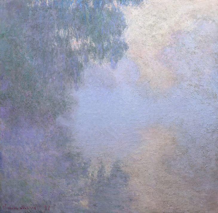 """Monet, de la serie de """"La Seine a Giverny.""""  maupassant"""